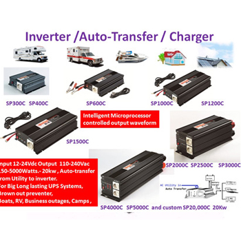 150W up to 5000W, inverter with charger for power back-up and UPS purpose, Built-in AVR module